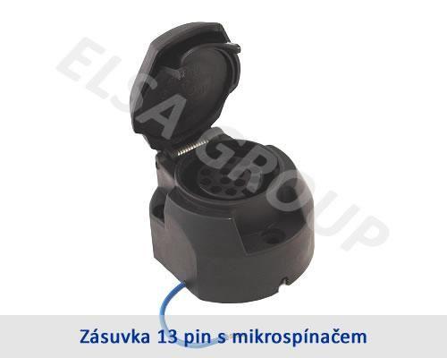 Zásuvka 13pin (DIN) s odpojením mlh. světla