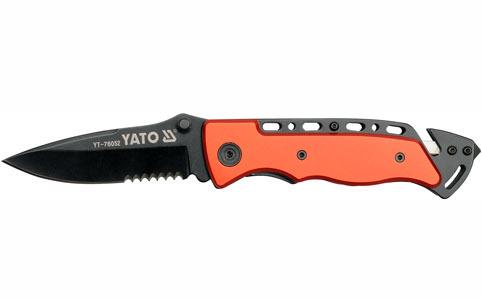 Nůž kapesní s pojistkou černý, YATO