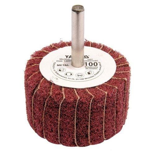 Kotouč lamelový radiální, 50x30, P150, s hřídelí 6 mm, YATO