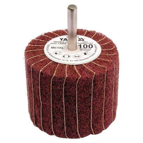 Kotouč lamelový radiální, 60x50, P60, s hřídelí 6 mm, YATO