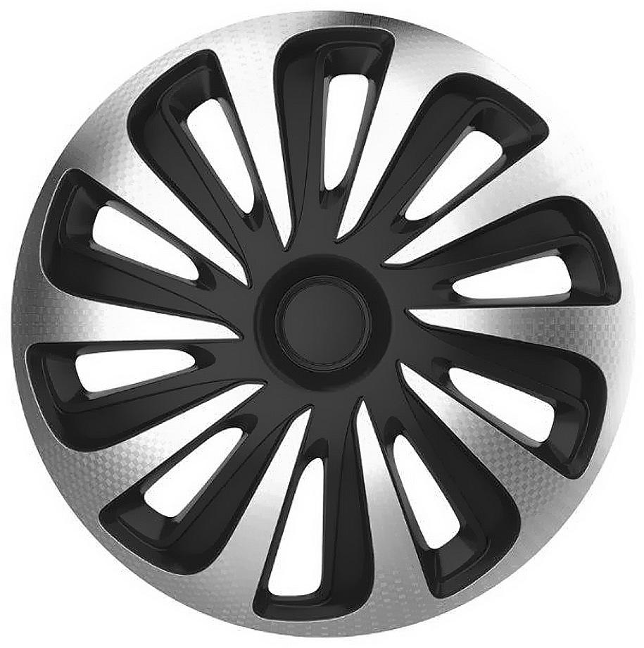 Kryty kol 15 CALIBER Carbon (sada) silver/black