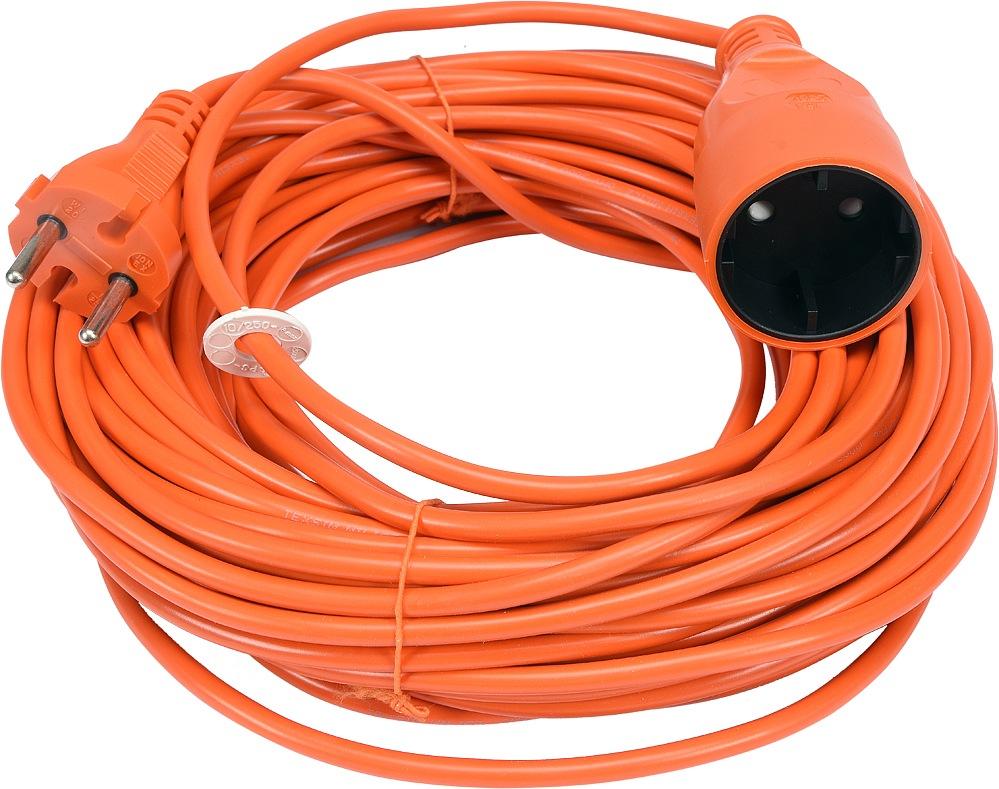 Kabel prodlužovací 20 m oranžový
