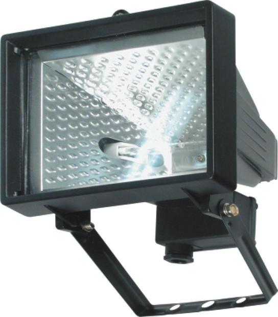 Lampa halogenová 120 W černá