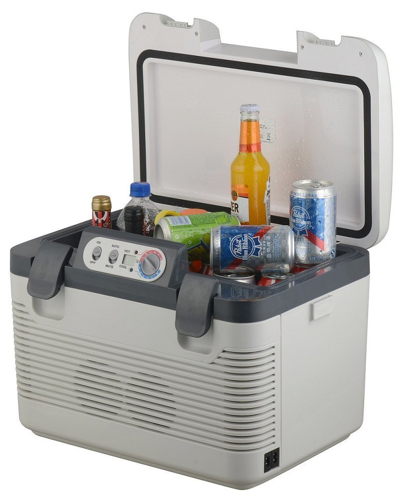 Chladící box 19l + display 220V/24V/12V DOUBLE, COMPASS