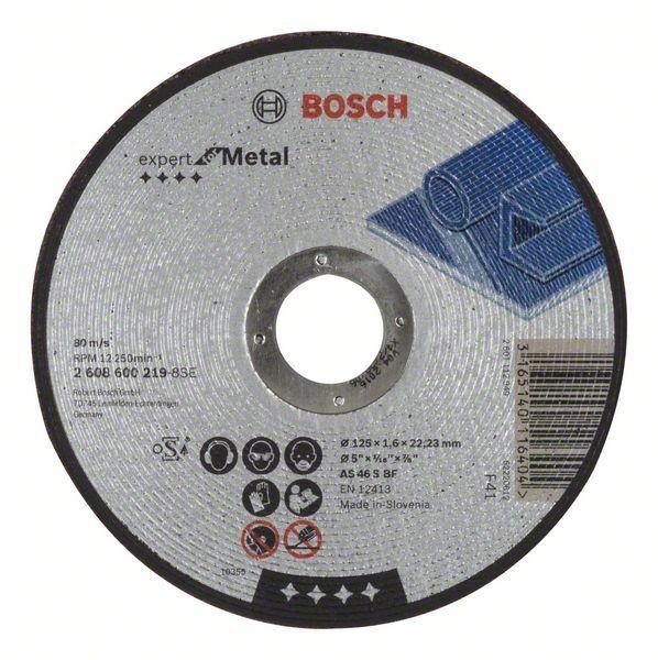 Dělicí kotouč rovný Expert for Metal - AS 46 S BF, 125 mm, 1,6 mm - 3165140116404 BOSCH