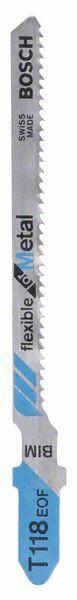 Pilový plátek do kmitací pily T 118 EOF - Flexible for Metal - 3165140091893 BOSCH
