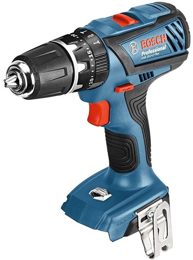 Aku kombinovaný šroubovák Bosch GSB 18-2-LI Plus Professional - bez baterie, 06019E7102