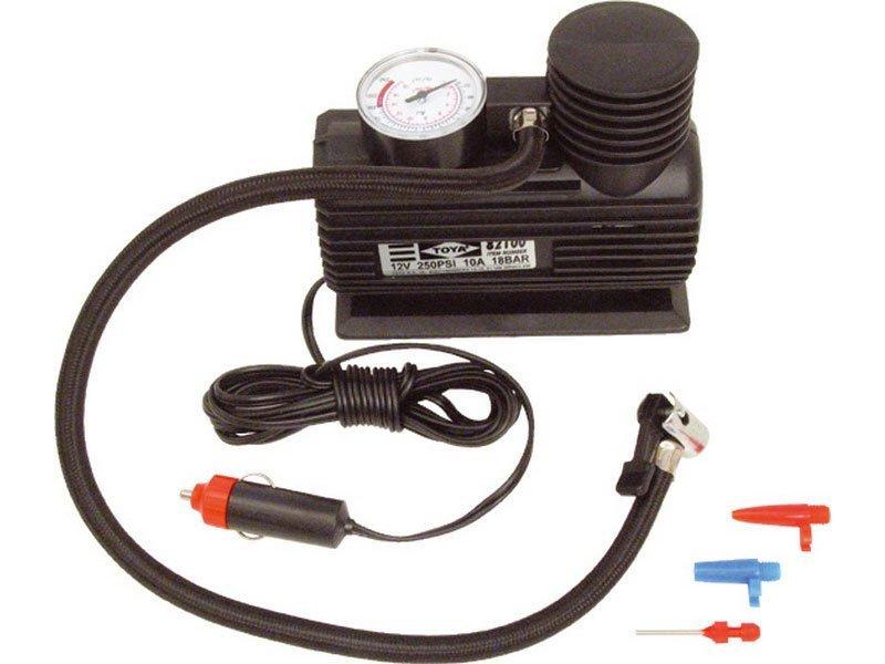 Kompresor mini 12V, 250PSI/1,7MPa, manometr, kabel 3m, EXTOL CRAFT, 252