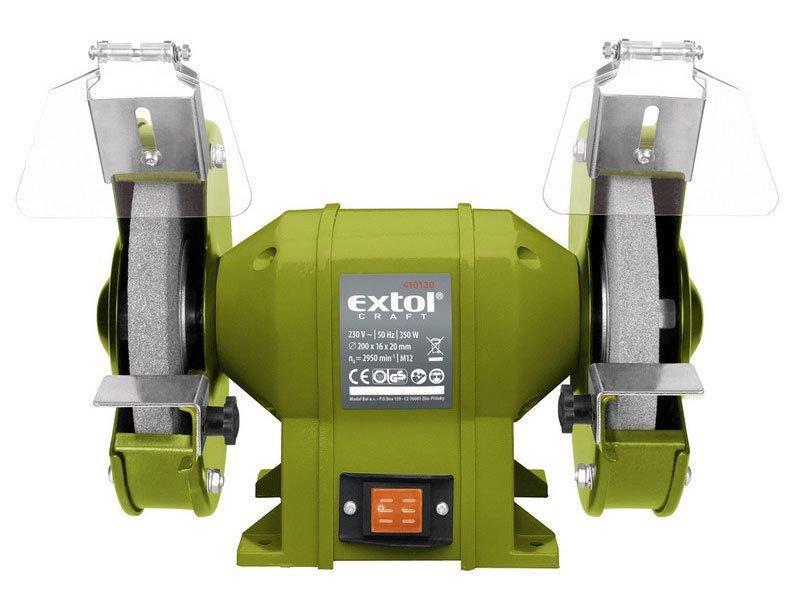 Bruska stolní dvoukotoučová, 350W, 200x16x š.20mm, EXTOL CRAFT, 410130