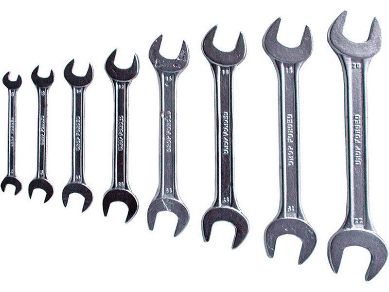 Klíče ploché, sada 8ks, 6x7, 8x9, 10x11, 12x13, 14x15, 16x17, 18x19, 20x22mm, EXTOL CRAFT