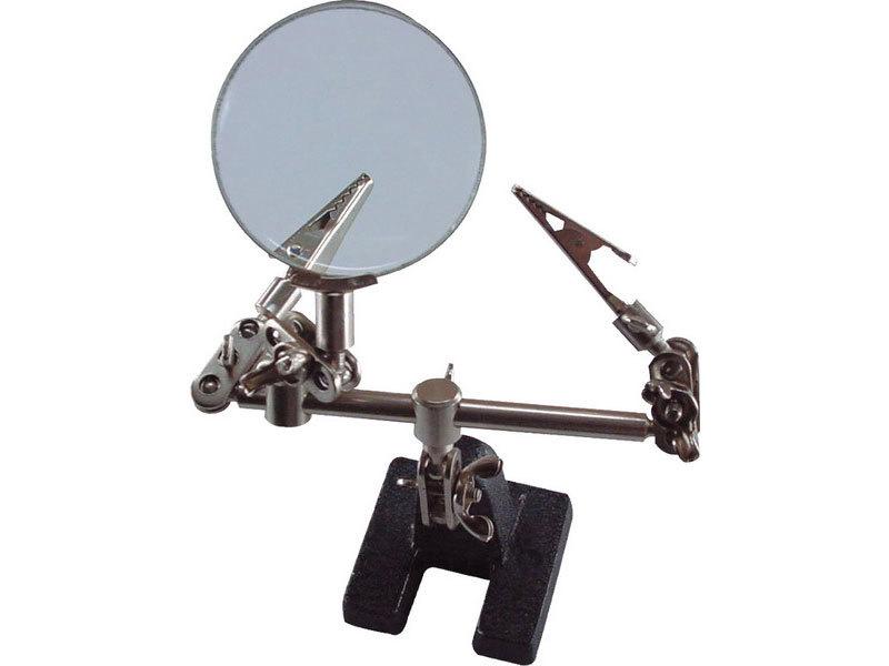 Držák třetí ruka s lupou, průměr lupy 60mm, EXTOL CRAFT