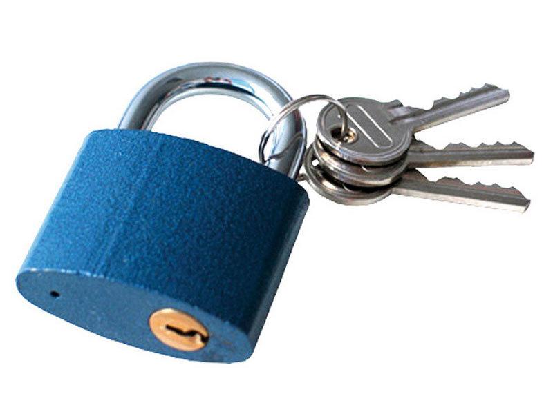 Zámek visací litinový, 63mm, 3 klíče, EXTOL CRAFT