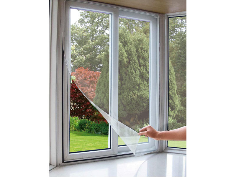 Síť okenní proti hmyzu, 130x150cm, bílá, PES, EXTOL CRAFT