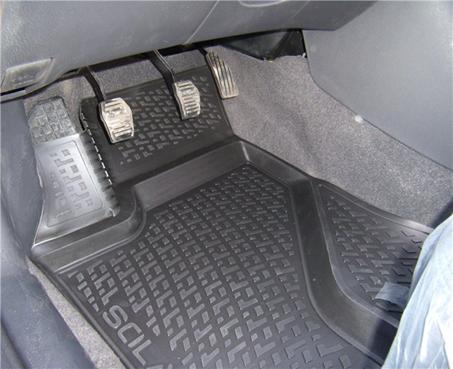Gumové koberce Peugeot Partner Origin I Facelift (pouze přední) (03-09) (2D) SIXTOL