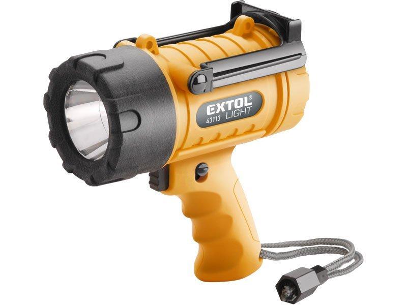 Svítilna 5W CREE XPG LED, vodotěsná, 300lm, dosvit 400m, čas svícení 6h, EXTOL LIGHT