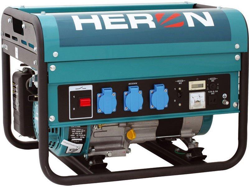 Elektrocentrála benzínová 5,5HP, 2,3kW, HERON, EGM 25 AVR, 8896111, záruka 3 roky