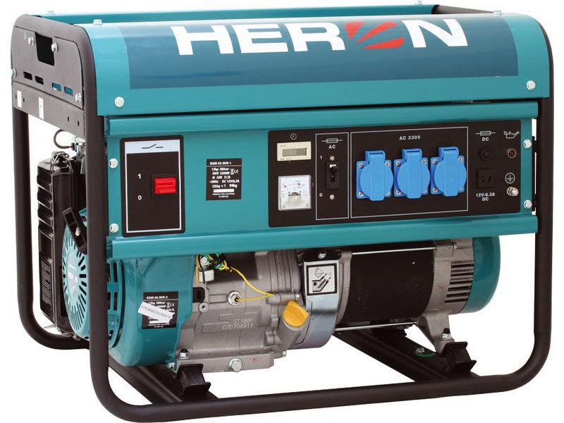 Elektrocentrála benzínová 13HP, pro svařování, 5,5kW, HERON, EGM 55 AVR-1, záruka 3 roky