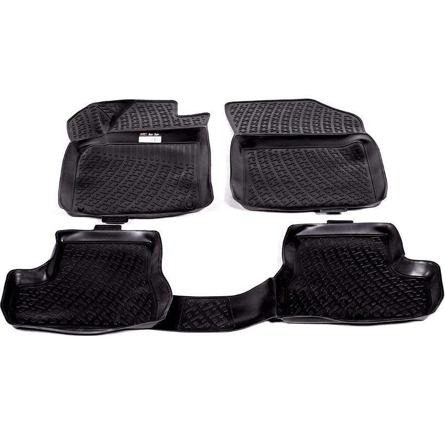 Gumové koberce Citroen C3 II Hatchback (A51) (09-) (3D) SIXTOL
