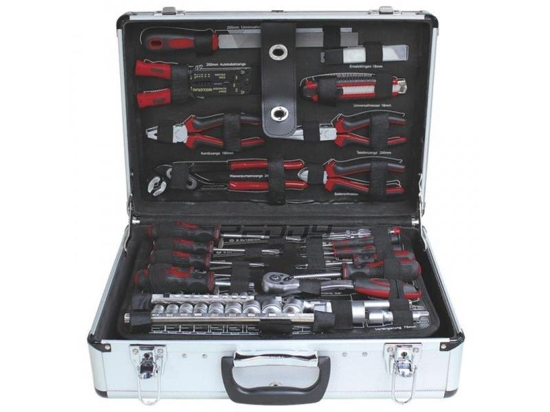 Profesionální hliníkový kufr s nářadím z chrom-vanadiové oceli 102 dílů ZUR-TS049