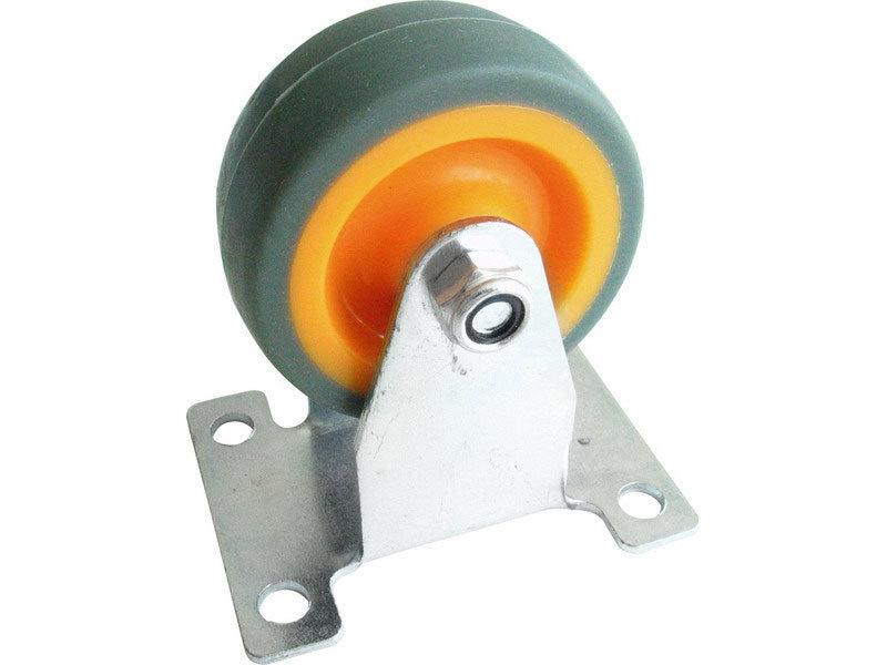 Kolečko termoplast, O 50mm, šířka 18mm, rozměr kovové základny 65x50mm, výška 72mm