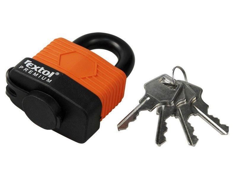Zámek visací voděodolný, 30mm, 4 klíče, EXTOL PREMIUM