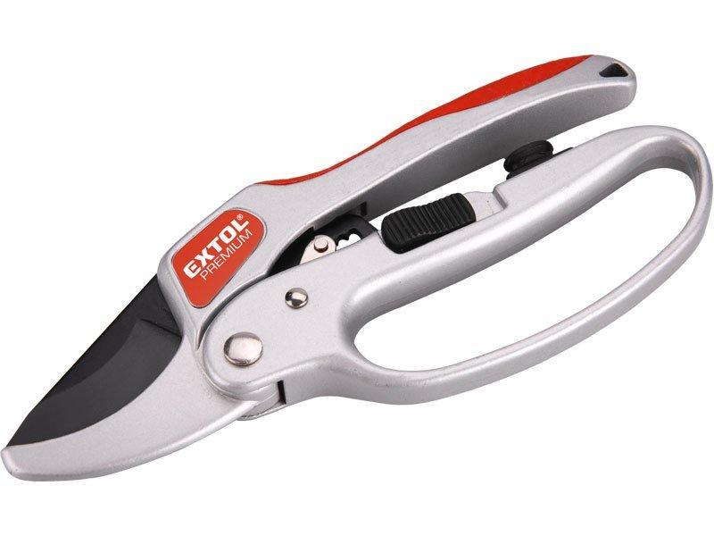 Nůžky zahradnické s rohatkovým převodem, 205mm, s olejničkou, SK5, EXTOL PREMIUM