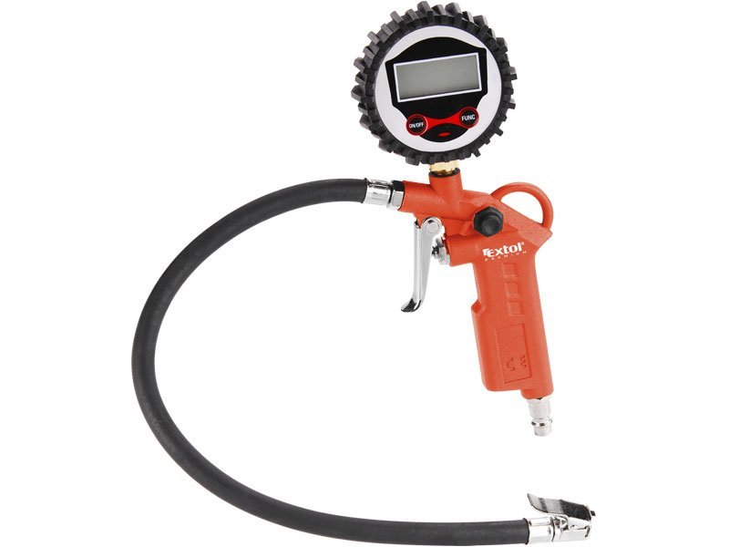 Plnič pneumatik s manometrem, digitální, stupnice - psi, bar, kPa, Kgf/cm2, RP 120 D EXTOL PREMIUM