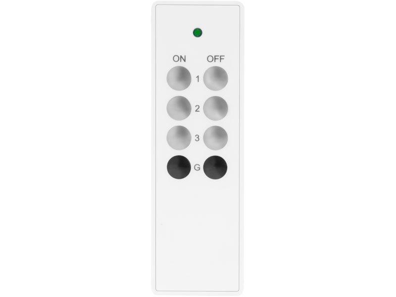 Ovladač, 3+1, 3jednotlivé/skupinové kanály, 1společný kanál, dosah 30m, EXTOL LIGHT