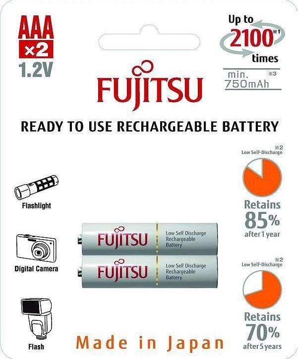 Baterie nabíjecí Fujitsu AAA, 2100 (přednabité) blistr 2ks