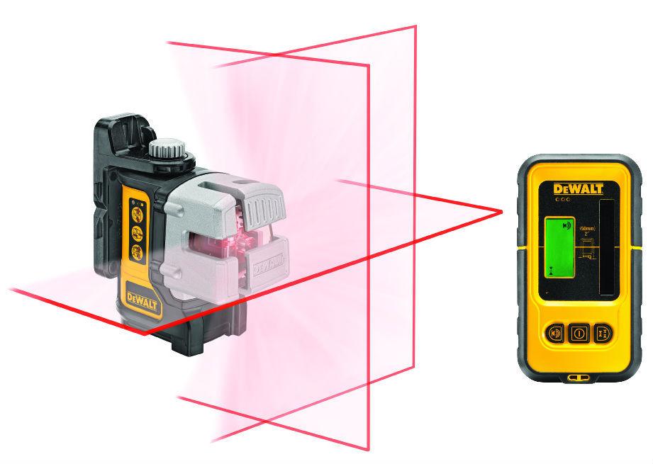 Samonivelační křížový laser s přijímačem DeWALT DW089KD