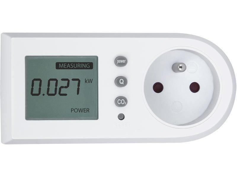 Měřič spotřeby el. energie - wattmetr, měří kW, kWh, CO2, EXTOL LIGHT