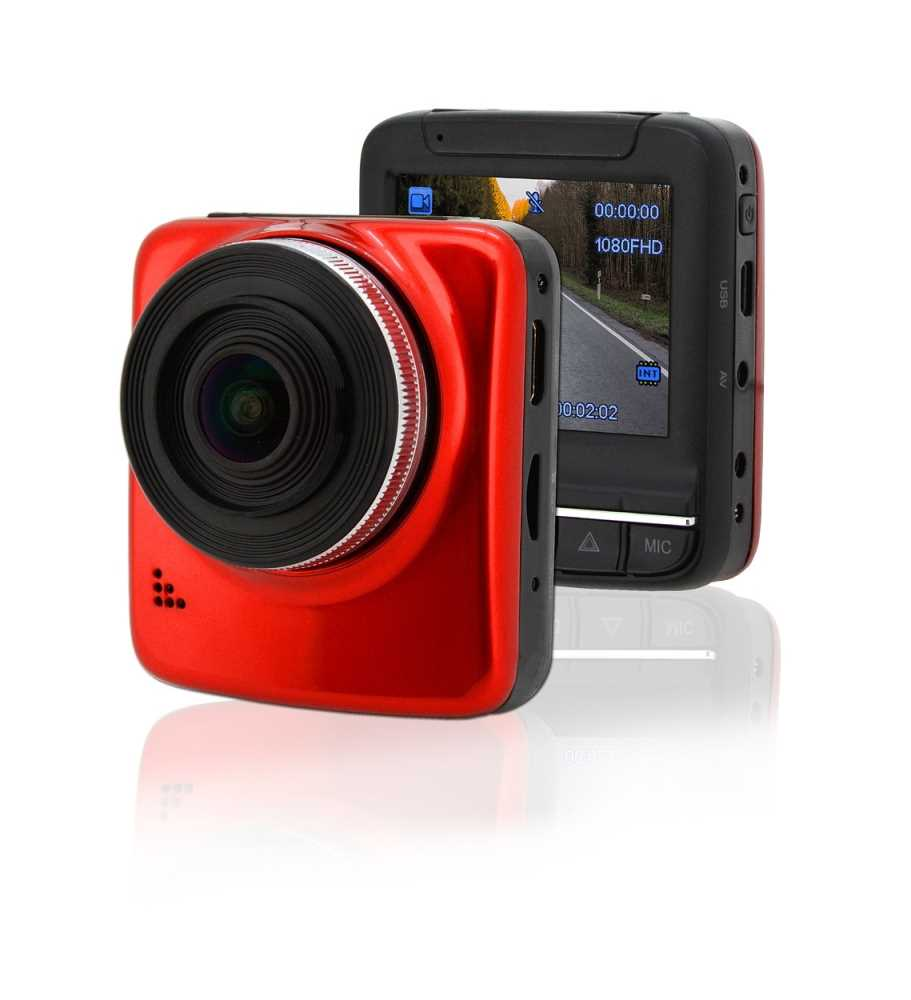 Kamera do auta Full HD 2,4 červená GPS, COMPASS