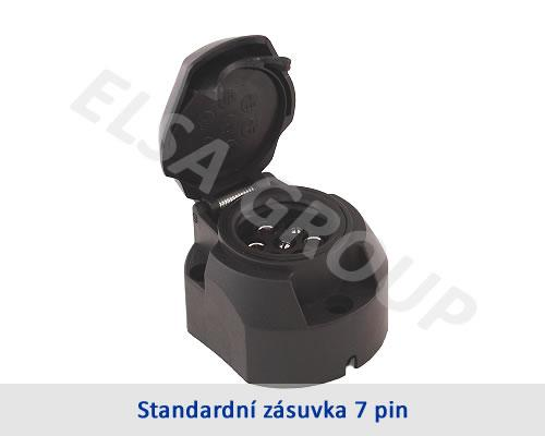 Zásuvka 7+1pin (DIN) IPx4 s odpojením mlh. světla