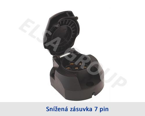 Zásuvka 7pin (DIN) snížená