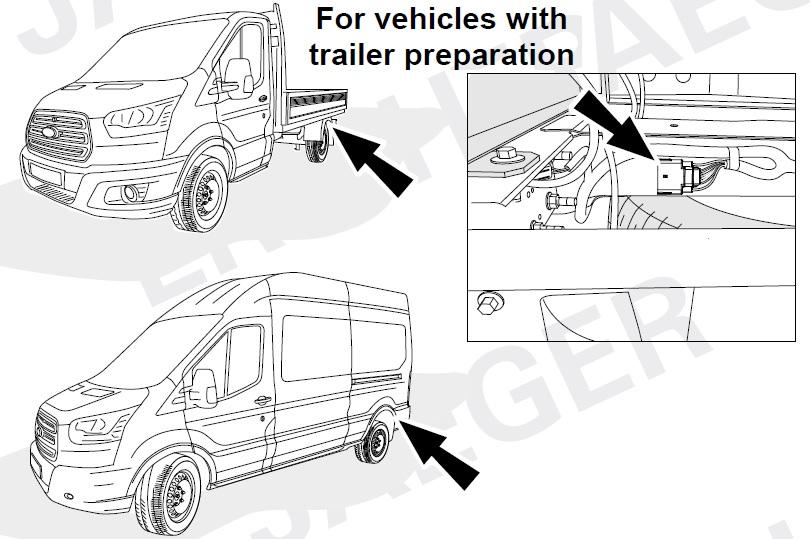 Elektropřípojka Ford Transit s přípravou 7pin