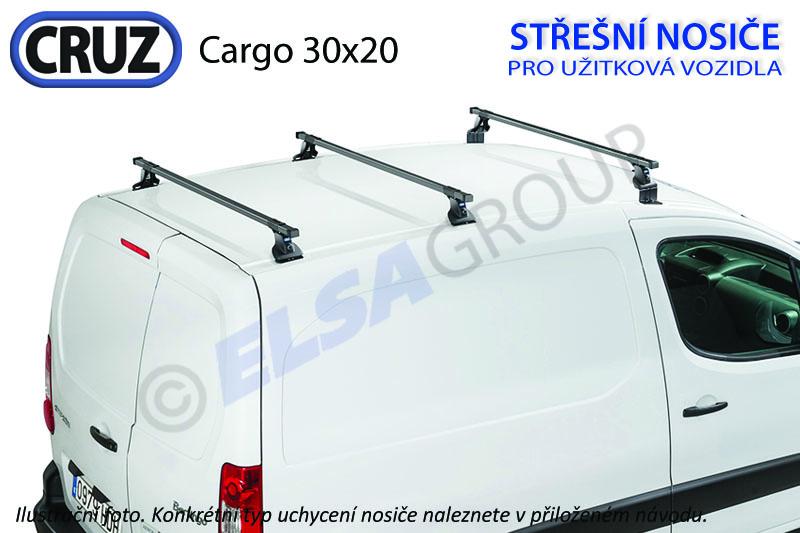 Střešní nosič Fiat Doblo / Opel Combo (12-) 3 příčníky, CRUZ