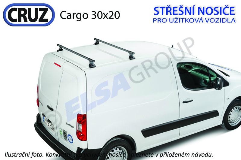 Střešní nosič Citroen Berlingo / Peugeot Partner (2 příčníky 30x20), CRUZ