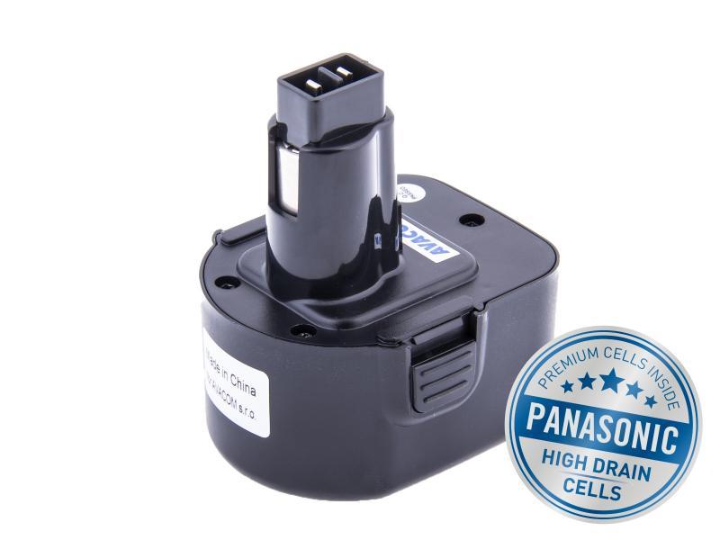 BLACK  DECKER A9252 Ni-Mh 12V 3000mAh, články PANASONIC