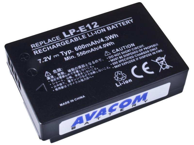 Canon LP-E12 Li-Ion 7.4V 600mAh 4.3Wh