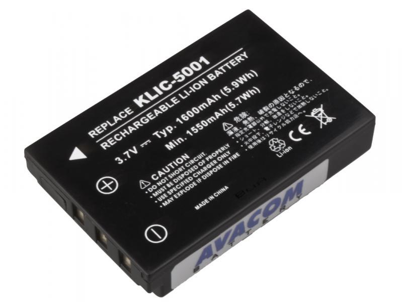 Kodak KLIC-5001 Li-Ion 3.7V 1600mAh 6Wh