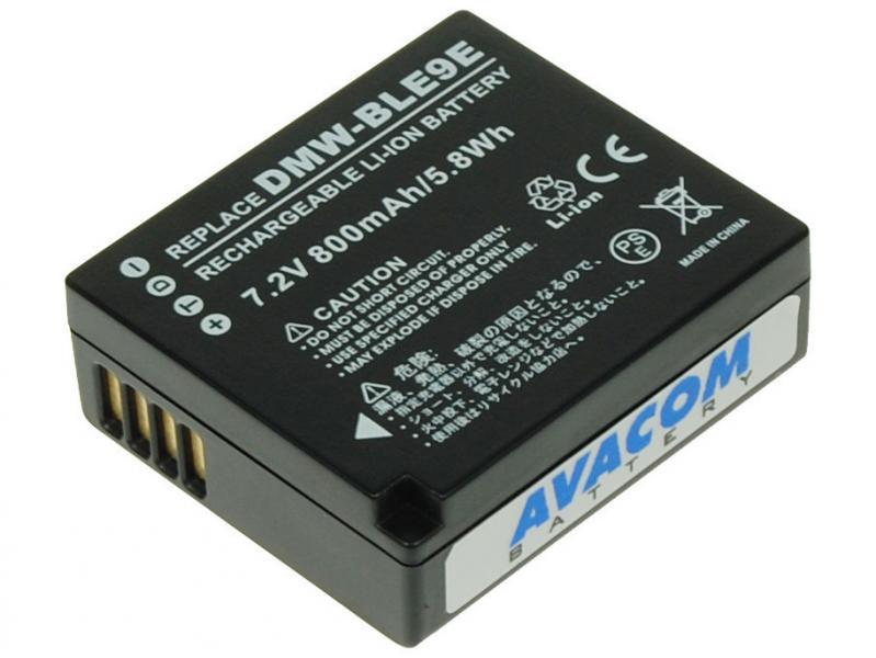 Panasonic DMW-BLE9, BLG-10 Li-Ion 7.2V 800mAh 5.8 Wh