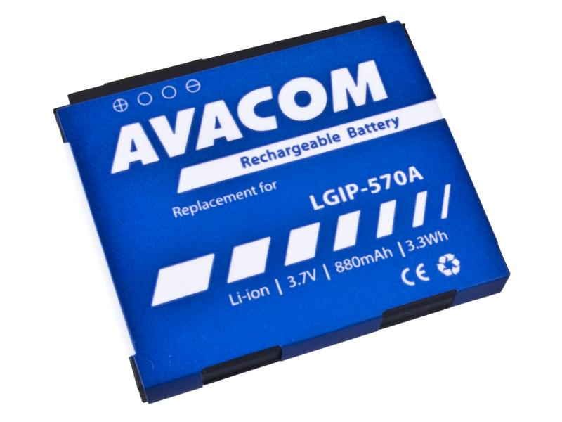 Baterie do mobilu LG KP500 Li-Ion 3,7V 880mAh (náhrada LGIP-570A)