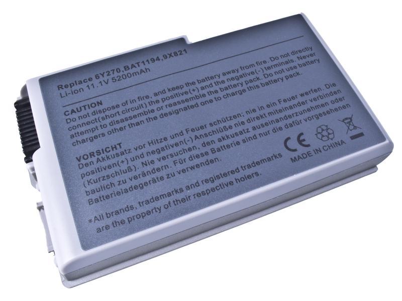 Dell Latitude D500, D600 Series, Li-Ion 11,1V 5200mAh
