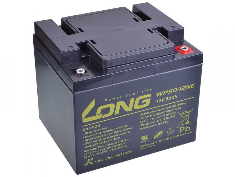 Long 12V 50Ah olověný akumulátor DeepCycle AGM F8 (WP50-12NE)