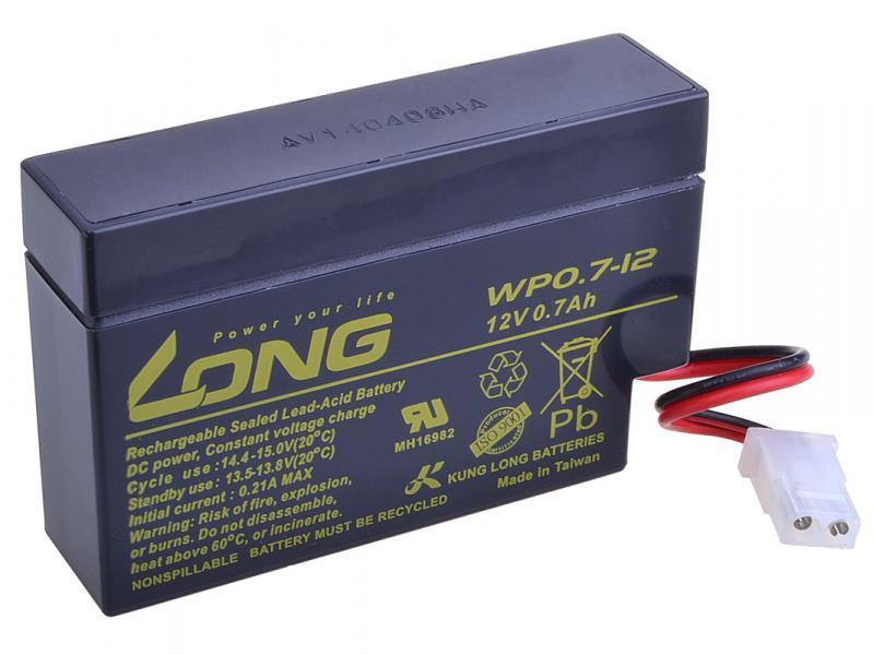 Long 12V 0,7Ah olověný akumulátor AMP (WP0.7-12)