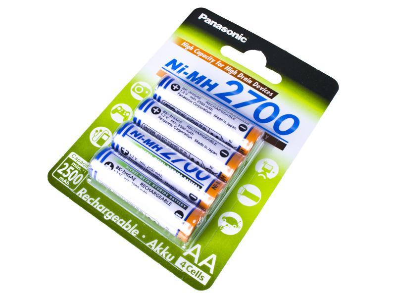 Nabíjecí baterie AA Panasonic 2700mAh Ni-MH 4ks Blistr