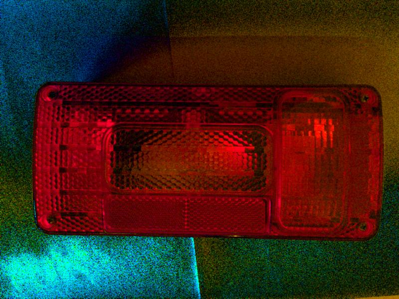Lampa osvětlení přívěsu - levá, 5 fcí