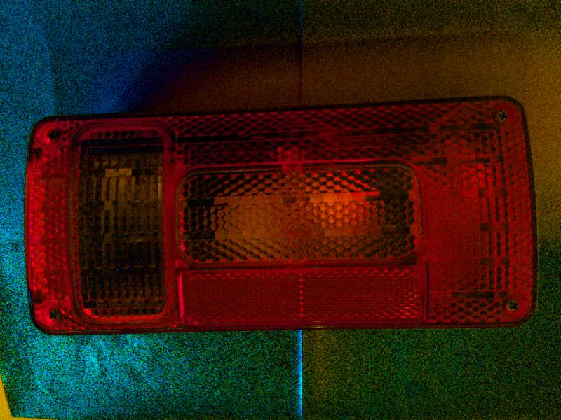 Lampa osvětlení přívěsu - pravá, 5 fcí