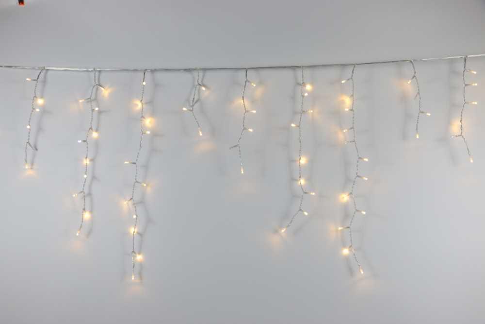 Závěs Teplá bílá 144 LED