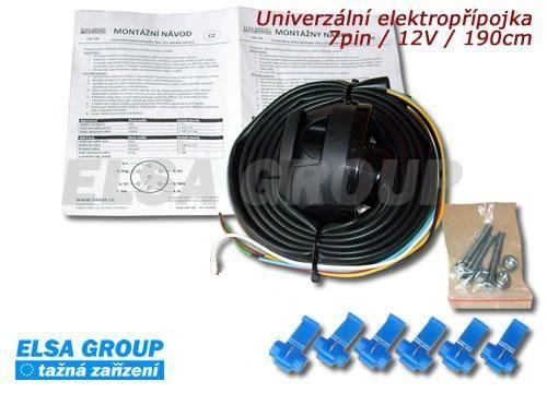 Univerzální elektropřípojka 7pin 190cm